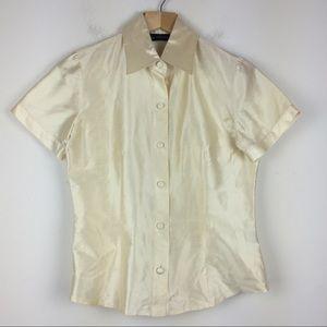 Vintage 90s Y2K pure silk shirt sleeve blouse